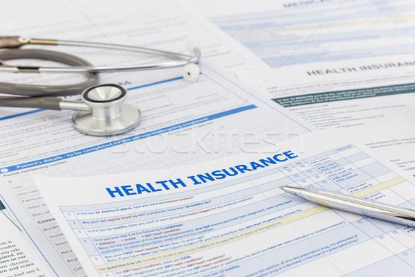Gezondheidszorg overzicht verzekering informatie medische vragenlijst Stockfoto © vinnstock