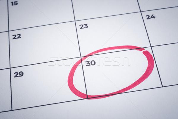 Mark end of month, notification calendar reminder. Stock photo © vinnstock