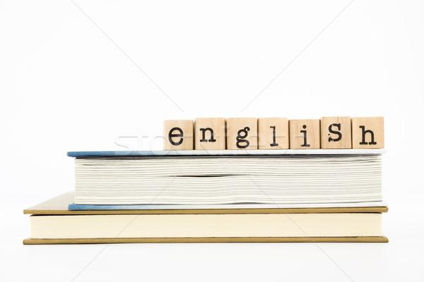 Engels boeken buitenlander Stockfoto © vinnstock