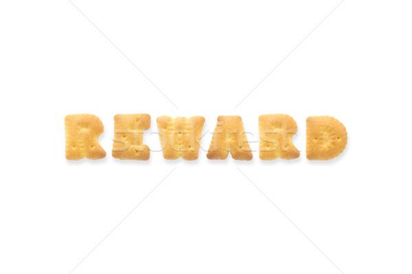 Brief woord belonen alfabet cookie biscuits Stockfoto © vinnstock
