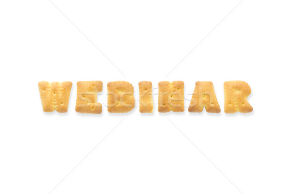 The Letter Word WEBINAR Alphabet Biscuit Cracker Stock photo © vinnstock