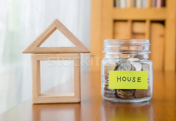 Stock photo: Saving for a home