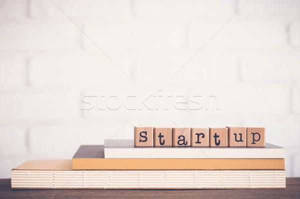 The word Startup and blank space background. Stock photo © vinnstock