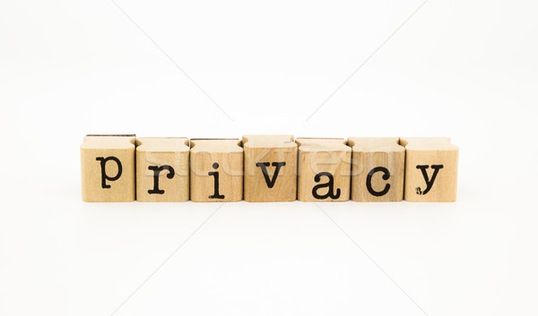 privacy wording on white background Stock photo © vinnstock