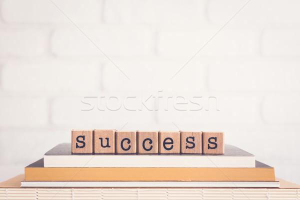 Szó siker copy space ábécé fából készült kockák Stock fotó © vinnstock