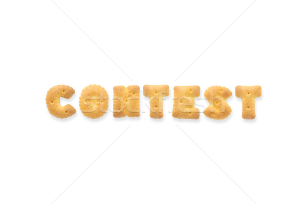 Lettre mot concours alphabet biscuit collage Photo stock © vinnstock