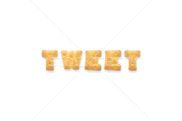 Lettre mot tweet alphabet biscuit collage Photo stock © vinnstock