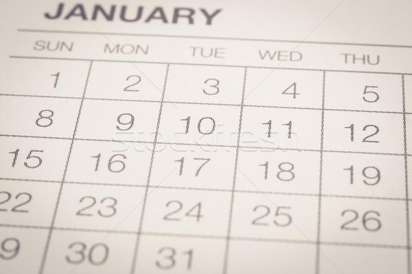Mensuellement calendrier vintage style dates Photo stock © vinnstock