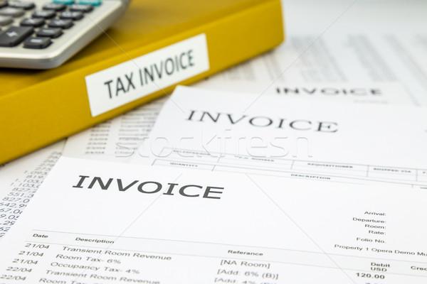Impôt commerciaux documents facture Photo stock © vinnstock