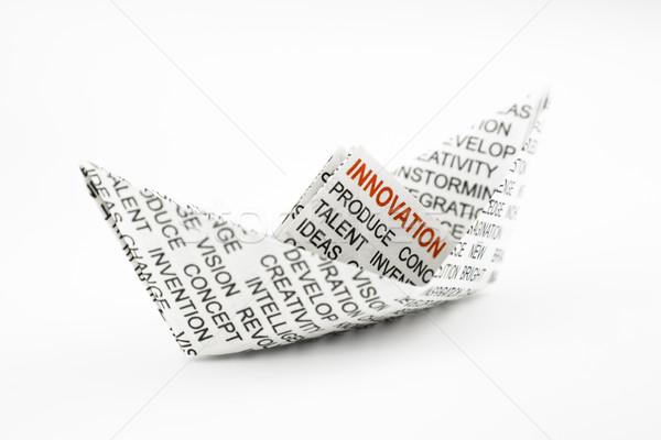 innovation idea, origami boat Stock photo © vinnstock