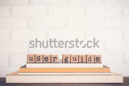 learning wording stack on a book Stock photo © vinnstock