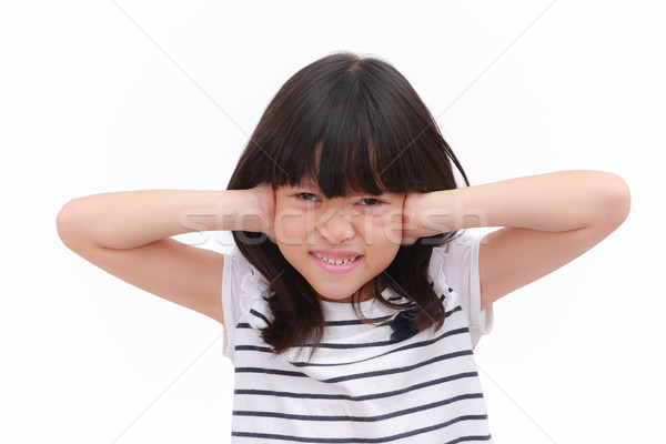 Kid with stressful emotional feeling.  Stock photo © vinnstock