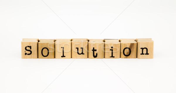 solution wording isolate on white background Stock photo © vinnstock
