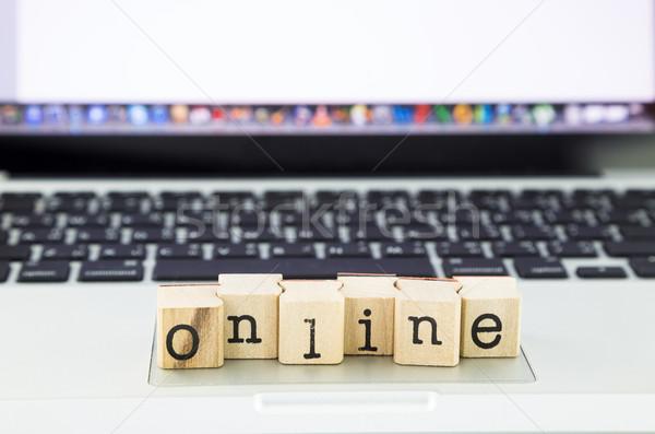 online wording stack on laptop Stock photo © vinnstock