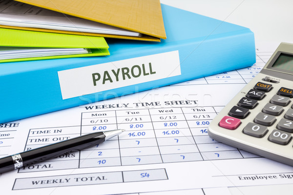 Stock photo: Calculate payroll for employee