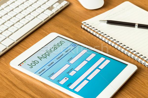 Digital tablet pc showing online job application form  Stock photo © vinnstock