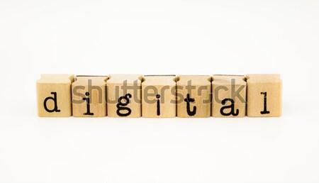 digital wording isolate on white background Stock photo © vinnstock