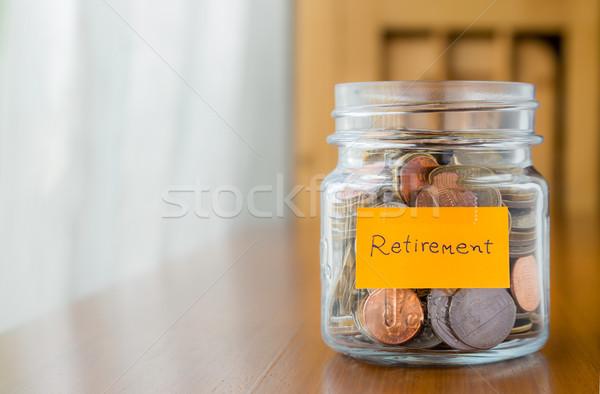 Financière plan mettre retraite argent monde Photo stock © vinnstock
