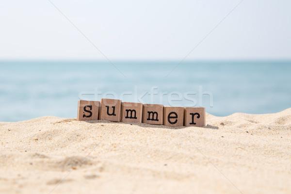 Vacances d'été saison mer plage été mot Photo stock © vinnstock