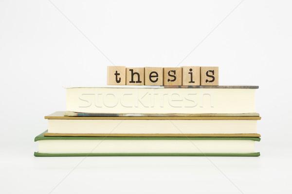 Palabra madera sellos libros sello Foto stock © vinnstock