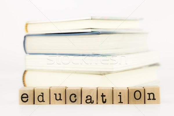education wording and books Stock photo © vinnstock