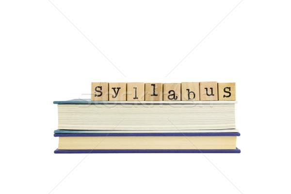 слово древесины марок книгах исследование Сток-фото © vinnstock