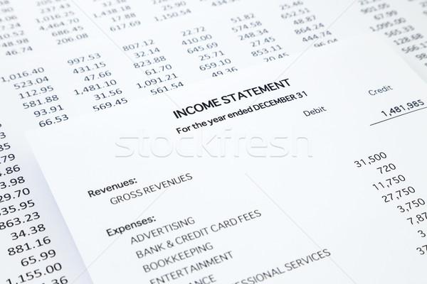Empresa de pequeno porte renda pormenor lista despesas contabilidade Foto stock © vinnstock