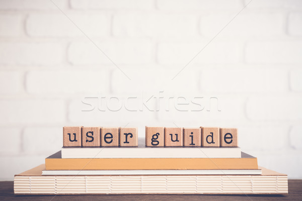 The word User guide and copy space background. Stock photo © vinnstock