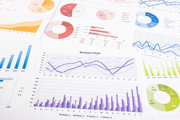 Kleurrijk grafieken gegevens analyse marketing onderzoek Stockfoto © vinnstock