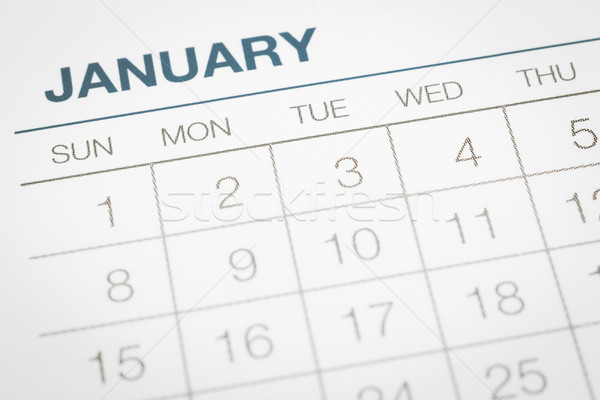 Stock photo: Calendar business planning, dates in January.