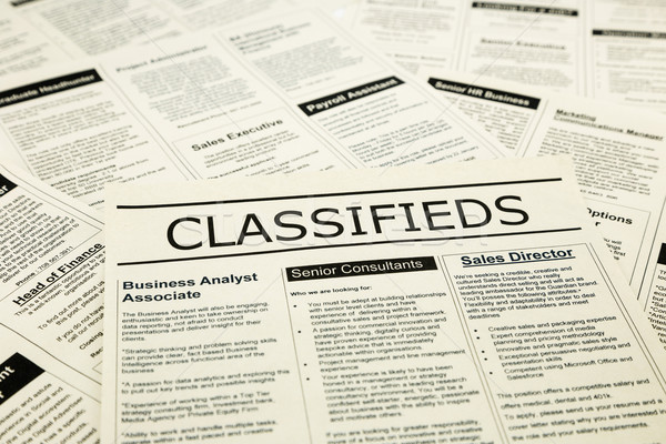 career news on classifieds ads, search jobs Stock photo © vinnstock
