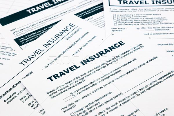 travel insurance form Stock photo © vinnstock