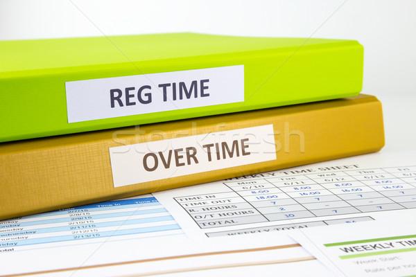 Employee time sheets  Stock photo © vinnstock