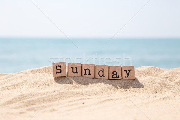 Sunday word and blue ocean background Stock photo © vinnstock