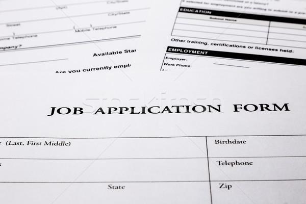 job application form Stock photo © vinnstock