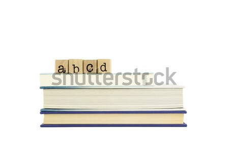 idea wording and books Stock photo © vinnstock
