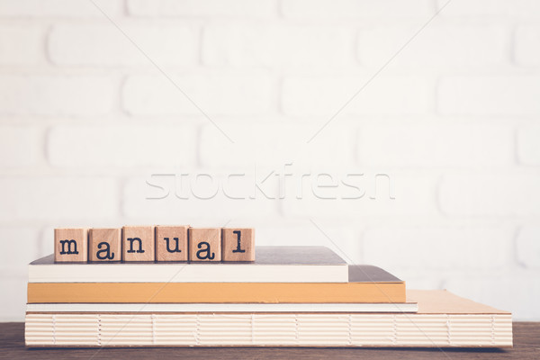 Palavra manual guiá texto Foto stock © vinnstock