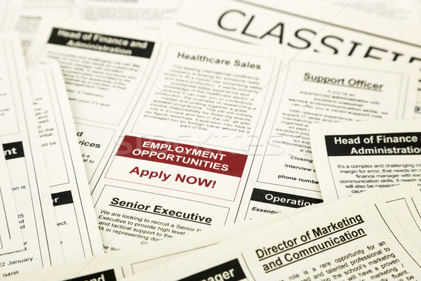 job opportunity classifieds ads, apply now Stock photo © vinnstock