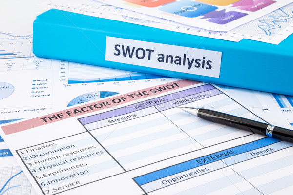 Document of SWOT analysis for business planning and evaluation Stock photo © vinnstock