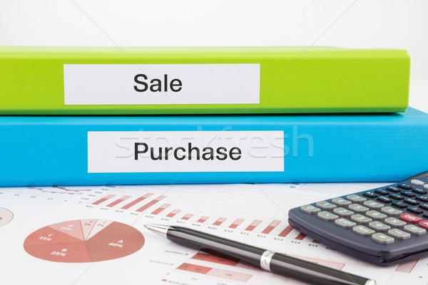 Verkoop kopen documenten rapporten woorden Stockfoto © vinnstock