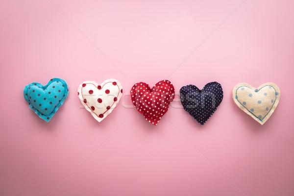 cute love hearts handmade crafts for valentine's day Stock photo © vinnstock