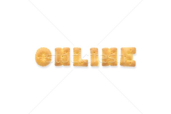 The Letter Word ONLINE Alphabet  Cookie Cracker Stock photo © vinnstock