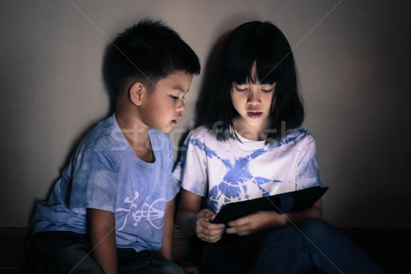 子供 演奏 タブレット 一緒に アジア ストックフォト © vinnstock