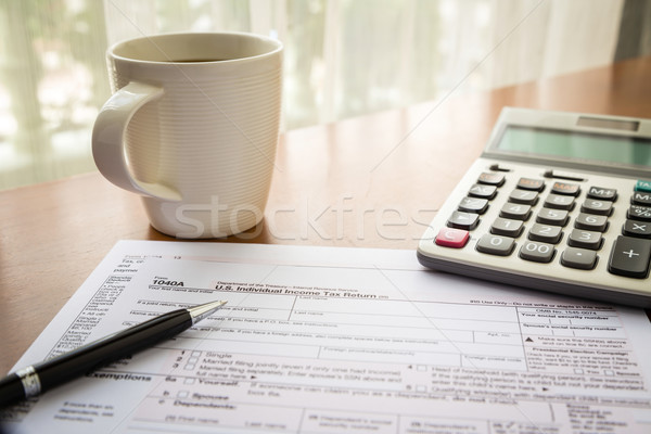 Form 1040A, U.S. Individual income tax return Stock photo © vinnstock