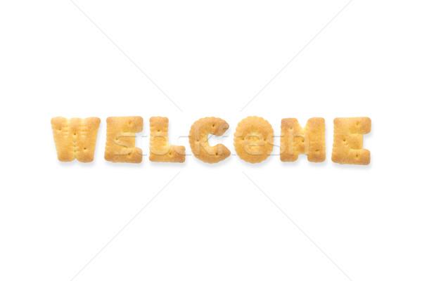 Lettre mot Bienvenue alphabet cookie collage Photo stock © vinnstock