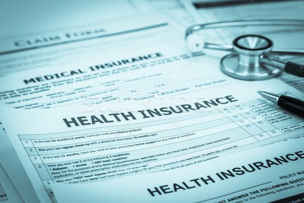 Diagnosis disease insurance service support Stock photo © vinnstock