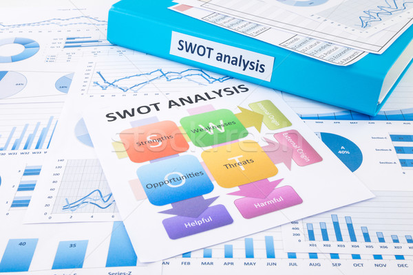 SWOT analysis chart and graphs for evaluate business Stock photo © vinnstock