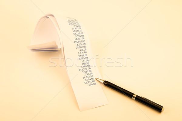 printout paper rolls in sepia tone Stock photo © vinnstock
