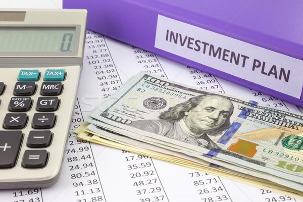Geld business investering plan plaats Stockfoto © vinnstock