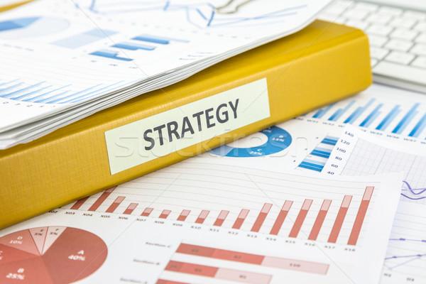 Negócio plano estratégia de marketing gráfico análise documentos Foto stock © vinnstock